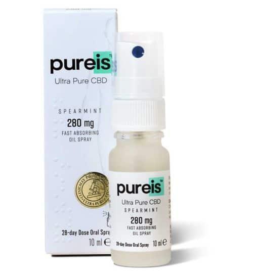 Pureis Ultra Pure CBD Spearmint 280mg Oil Spray