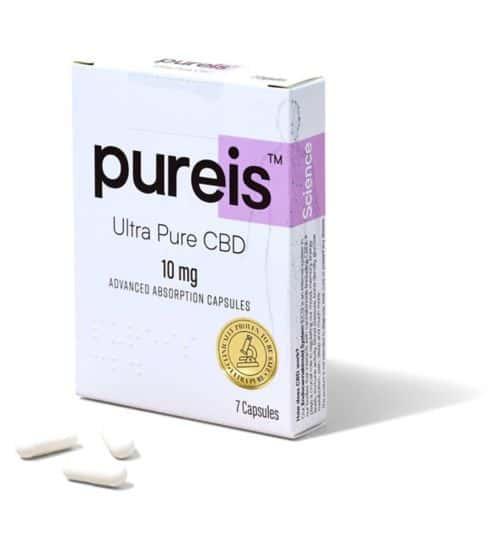 Pureis Ultra Pure CBD 10mg Capsules - 7 Capsules